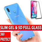 Case For Samsung Galaxy A50 , A40 Silicone Gel Cover 5D Glass Screen Protector