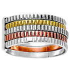 Two Tone Stackable 925 Sterling Silver Ring Jewelry Size 5-10 DGR1060