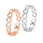 Hollow Heart Ring Gorgeous Multi-use Adjustable Ring Perfect Gift Item Uk Seller