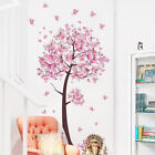 Pink Flower Butterfly Tree Wall Sticker Decal Girls Art Bedroom Accessories
