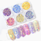 Nail Sequins Powder Light Color Changing Purple Powder Nail Art Decorations