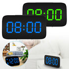 Digital LED Alarm Clock Large Screen Snooze Battery Powered Sound Control Clocks