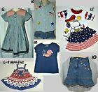 Girls Patriotic Items from Disney/Jumping Beans/Bonnie Jean/Justice/Jordache +