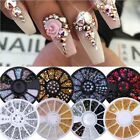 3D Hot Nail Art Rhinestones Glitters Acrylic Tips Decoration Manicure Wheels DIY