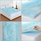 ORTHOPEDIC FOAM MATTRESS TOPPER 2 Inch Bed Pad 5 Zone Hypoallergenic 6 Sizes image