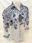 Mens PREMIERE Long Sleeve Button Down Dress Shirt BLACK WHITE SPOTTED LEOPARD 09