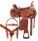 Beautiful Comfy Trail Ranch Work Used Western Leather Horse Saddle 15 16 17 18