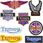 TRIUMPH Motorcycles Biker Racer Patch Sew Iron on T shirt Jacket Badge Emblem $4.99 USD on eBay