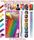 26 rainbow colour diy clip in hair extensions 24 hours delivery uk stock