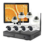 8 Cameras Outdoor Home Security Camera System Wireless W/ Hard Drive and Monitor