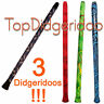More images of LOT: 3X Modern Didgeridoos 130cm51 Easy To Play, Loud Sound, Light Weight