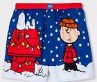 NWT Men's Peanuts Snoopy Charlie Brown Boxer Shorts Just Chillin' underwear S M