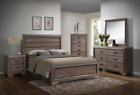 NEW Rustic Gray Brown Queen or King 5PC Bedroom Set Modern Furniture Bed/D/M/N/C