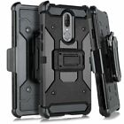 For Coolpad Legacy - Hybrid Holster Armor Hard Combo Case Cover with Belt Clip