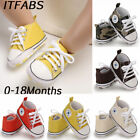 New Baby Toddler Boys Girls High Classic Canvas Tennis Shoes Kid Skater Sneakers