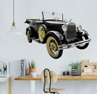 3D Oldtimer Black Car B101 Car Wallpaper Mural Poster Transport Wall Stickers We