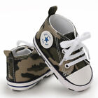 USCute Newborn Kid Canvas Sneakers Baby Boy Girl Soft Sole Crib Shoes Prewalkers
