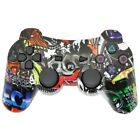 PS3 Dual Shock PlayStation 3 Controller Black Blue Red Camo Toke Ghost Graffiti