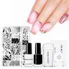 NICOLE DIARY Nail Stamping Kit Stamp Polish Flower Stamping Plates with Stamper