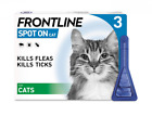 FRONTLINE Spot On Flea & Tick Treatment for Cats 3 Pipettes