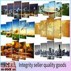 Modern Art Canvas Oil Painting Picture Print Home Wall Decor Wood Frame 5 Pieces