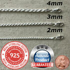 925 Sterling Silver real Italian Silver solid Rope Chain Mens womans Necklace