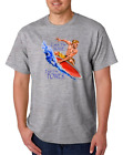 USA Made Bayside T-shirt Surfing Catch Wave Feel Power Surfer Surf
