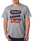 Bayside Made USA T-shirt Am Patrick Save Time Let's Just Assume Never Wrong
