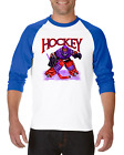 Raglan T-shirt 3/4 Sleeve Sports Hockey Player 1
