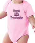 Infant Creeper Bodysuit One Piece T-shirt Mommy's Little Troublemaker