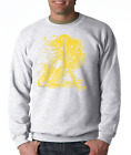 Gildan Long Sleeve T-shirt Sports Hockey Player Shadow Digital Yellow