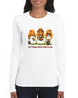 Gildan Long Sleeve T-shirt Angel Girls All Things Grow Together With Love