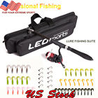 Telescopic Fishing Rod Reel Set Full Kit Spinning Pole with Hook Lure Bag Tackle