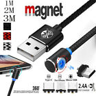 2.4A Magnet Cable Micro USB/IOS/Type C Cable Fast Charging Adapter L Line...