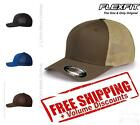 Flexfit Mens Trucker Cap Hat Structured, Ball Blank Solid Plain Mesh 6511 $9.64 USD on eBay