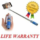 For iPhone Samsung LG Handheld Mini Wired Remote Selfie Stick Monopod Extendable