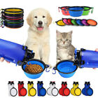 Portable Travel Pet Dog Food Water Drinking Dual-Use Bottle  Foldable Pet Bowls