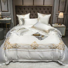 Bedding set 6pc Egyptian cotton embroidery duvet cover bed sheet set pillowcases image