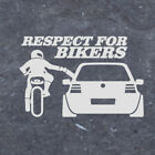 20*13cm RESPECT FOR BIKERS Waterproof Car Sticker Funny Decals Creative Window $0.99 USD on eBay