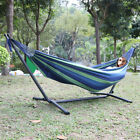 Hammock with Metal Frame Free Standing Swinging Camping Travel Chair Tropical