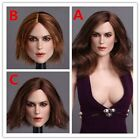 "1/6 Scale Keira Knightley Head Sculpt 12"" Toy Soldier Action Figure Body"
