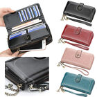 Women's Leather Wallet Clutch Organizer Checkbook Card Holder Coin Pocket Purse image