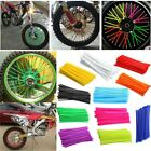 75pcs Bike Wheel Spoke Wrap Protector Colorful Motocross Rims Skins Covers