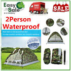 Waterproof 2Person Camping Tent 6.56*4.27 ft Folding Single Layer Travel Hiking