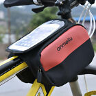 Waterproof Cycling Bag Bike Bicycle Front Frame Pannier Tube Bag For Cell Phone