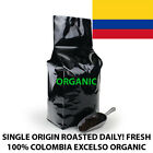 2, 5, 10 LB COLOMBIA EXCELSO ORGANIC FRESH ROASTED COFFEE WHOLE BEAN, GROUND