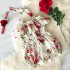 US Kids Baby Girls Sleeveless Summer Floral Top Romper Jumpsuits Outfits Clothes