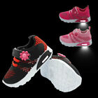 Light Up Girls Baby Toddler Sneakers Breathable Mesh Knittled Uppes Tennis Shoes