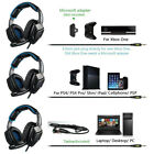 Wired 3.5mm PS3 PS4 Headset Gaming 3D Stereo SUPER BASS Headphone Headband K3J7