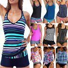 Women's Sporty Tankini 2pcs Bikini Set Swimming Costume Beach Swimsuit Swimwear
